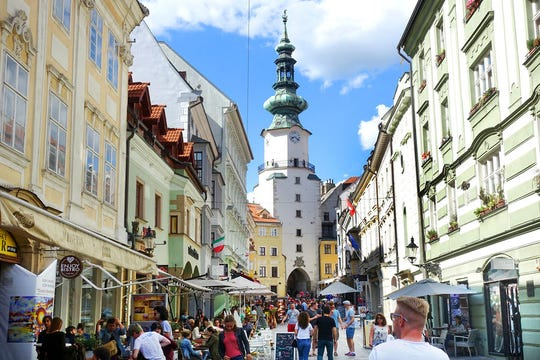 Bratislava's old town has come a long way since it was nearly a ghost town in the Communist era.