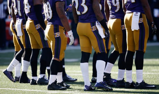 The Ravens have worn their mustard-colored pants just once.