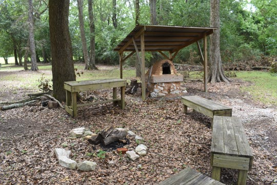 Across from the Forts Randolph & Buhlow State Historic Site visitors center is a mud oven that is used for cooking demonstrations.
