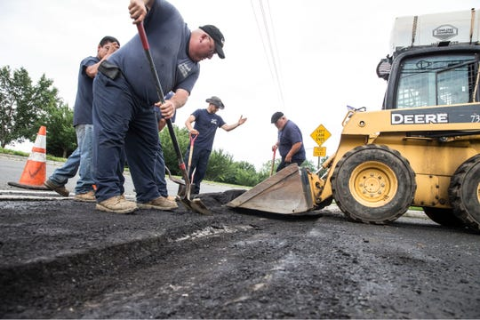 Angelo's Paving Inc., a West Long Branch-based business that performs paving work throughout Monmouth and Ocean Counties, performs work at a business near Richmond Avenue.     