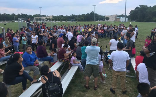 Parents of Lakewood public school children gathered for an informal meeting Tuesday night at a township park, hoping to learn about the district's funding deficit and how a $36 million loan would benefit their children.