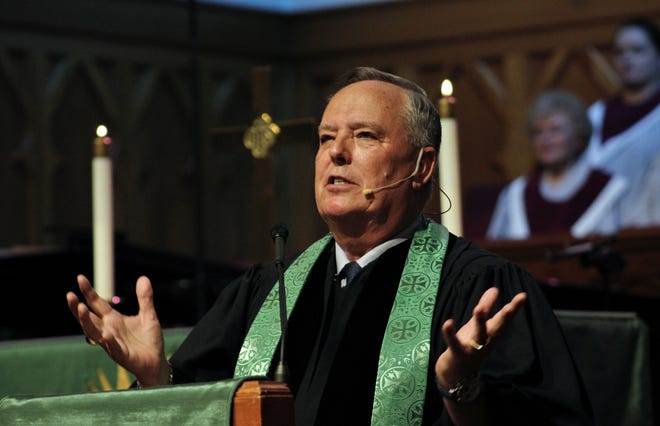 The Rev. Steve Patterson preached his first sermon as pastor of Abilene's St. Paul United Methodist Church on Sunday.