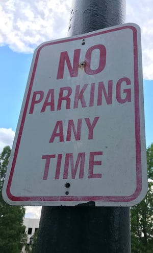 "You can request a ""no parking"" designation on Asheville city streets by contacting the Asheville Transportation Department at 828-259-5943. It is helpful for the traffic engineering staff to know who is making the request (neighborhood or a single resident), what the specific issue is, and where the issue is occurring."