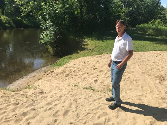 Emmett Charter Township Accessor Mike Leslie envisions a boardwalk along the Kalamazoo River on township property just west of Raymond Road and south of East Columbia Avenue.