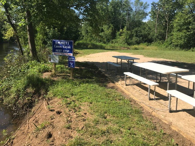 There's a new canoe/kayak stop along the Kalamazoo River in Emmett Charter Township.