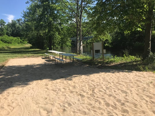 One day Emmett Township officials would like to see a boardwalk along the Kalamazoo River that is accessible by car. The new kayak/canoe stop is currently only accessible by river.