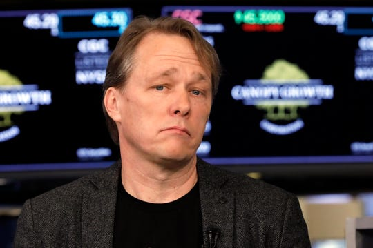 Canopy Rivers founder, chairman and co-CEO Bruce Linton is interviewed on the floor of the New York Stock Exchange on March 7, 2019.