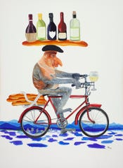 """This piece by Peggy King, entitled """"Where's the Party"""" will be one of many on display at that Swannanoa Valley Fine Arts League's annual juried show when it opens at the Red House Gallery on July 12."""