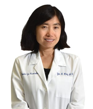 Dr. Yue Michelle Wang is an ophthalmologist at theFlorida Eye Associates office in Melbourne.
