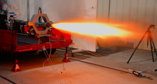 Workers at Rocket Crafters, working out of a warehouse in an industrial area of Cocoa, were testing a 550# test rocket with 3D printed fuel. On July 3, 2019, the company held their 43rd hot fire test that was shut down early by their safety system.