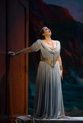 "Ariadne (Twyla Robinson) ) in Cincinnati Opera's production of ""Ariadne auf Naxos."""