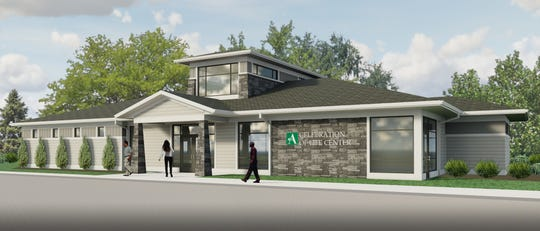 Here's a rendering of the new funeral home The Arlington Memorial Gardens plans to build at its cemetery in Springfield Township.