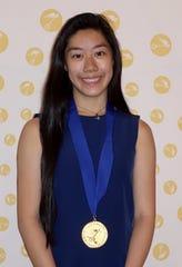Morgan Eng, graduate from Westfield High School, receives Gold Medal Design award.