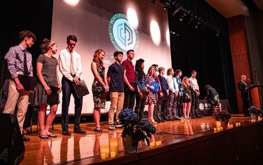 Hunterdon County Vocational School District celebrates first graduates from Computer Science and Applied Engineering Academy.