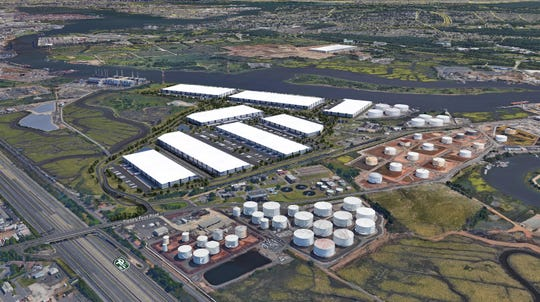"""Linden Logistics Center,NAIOP NJ's Industrial """"Deal of the Year,"""" recently broke ground and began construction on a vacant 350-acre tract of land off South Wood Avenue near the city'sTremley Point industrial area.The eight-building, 4.1 million-square-foot site is the largest industrial development in the Port of New York/New Jersey region, developers said."""
