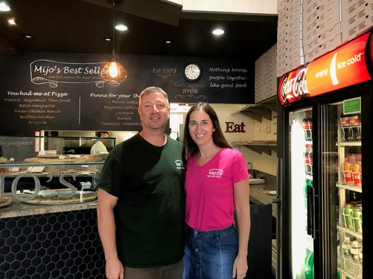 Marty and Laura Venezio have owned Mijo's Pizza for a little over a year, but still use the recipes from original owner, Mario Crifo.