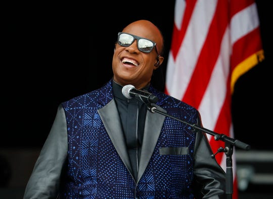 Stevie Wonder performs at the dedication ceremony for the Smithsonian Museum of African American History and Culture on the National Mall in Washington in 2016.