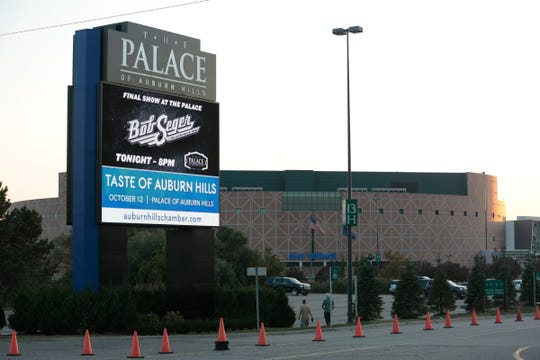 The Palace of Auburn Hills in Auburn Hills, Saturday, September 23, 2017.
