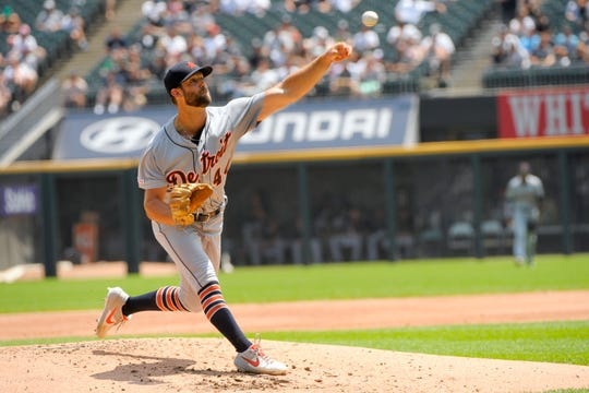 Tigers starting pitcher Daniel Norris pitches against the White Sox during the first inning Wednesday in Chicago.