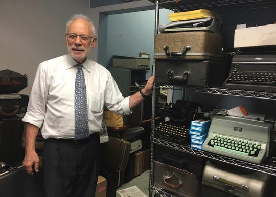Paul Schweitzer who, with his son, owns the Gramercy Typewriter Co, founded by Schweitzer's father in 1932. Vintage typewriters are sent for repair and restoration daily from around the country, Schweitzer says.