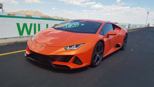 The 2020 Lamborghini Huracan EVO derives some aero tricks from the Performance model. The EVO costs $270,969.