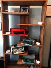 Vintage typewriters for sale at Gramercy Typewriter Co. store in New York.