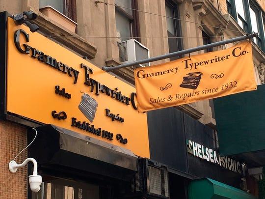 Gramercy Typewriter Co. in New York.