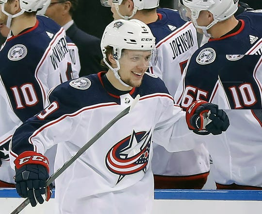 Left wing Artemi Panarin was a major addition for the New York Rangers.