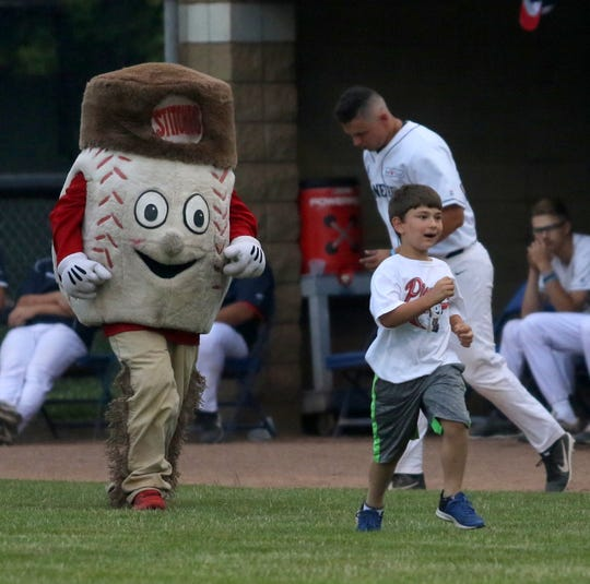 The Elmira Pioneers host the Oneonta Outlaws on July 2, 2019 at Dunn Field.