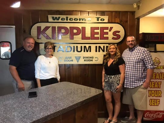 On Monday, Chip and Laurie Shutz, left, retired from Kipplee's at Division Street and Boeke Road. The new owners are Kaycey and Matt Klees, right.