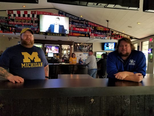Owners Joshua Pietrowski, left, and Cory Edwards at Doc's Sports Bar.