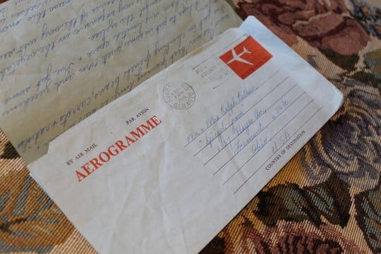 This is one of the letters sent by Betty Hood of Brisbane, Australia to Fremont resident Juanita Billow. The longtime pen pals estimate they wrote each other between 500-and-600 letters.