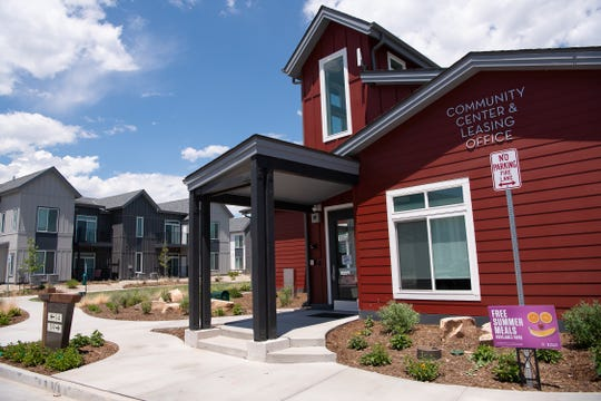 The Village on Horsetooth Community Center and Leasing Office is pictured prior to a tour of the affordable housing development on Wednesday, July 3, 2019, in Fort Collins, Colo.