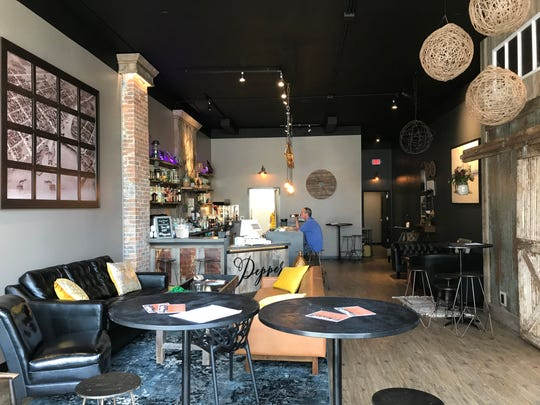 Pepper offers craft cocktails, sandwiches and wraps, quesadillas and other food in a cafe-like atmosphere designed to encourage patrons to relax and engage each other while there.