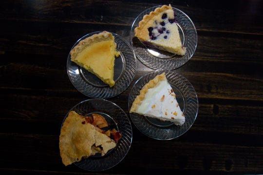 The Double Barrel has four pies on offer every day, and the tour de pie includes a slice of each.