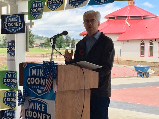 Mike Cooney announces Wednesday at Stodden Park in Butte that he is running for governor.