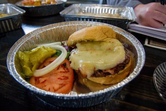 The bacon cheeseburger at Double Barrel