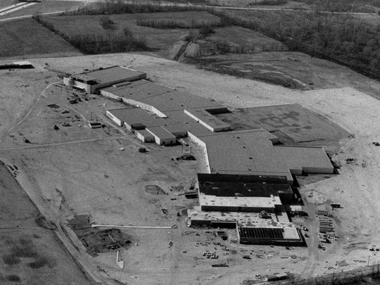 This aerial photo shows Castleton Mall under construction in 1972.