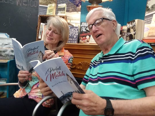 """Mary and Kelly Neff reading their book """"The Perfect Match"""" in Austin, Minnesota."""