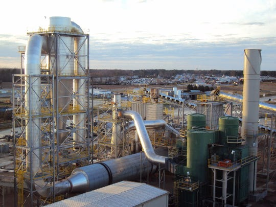 An Enviva pellet plant in Ahoskie, NC. Enviva owns seven plants around the Southeast and plans to build its newest in Lucedale. The new facility is expected to be the largest wood pellet plant in the world.