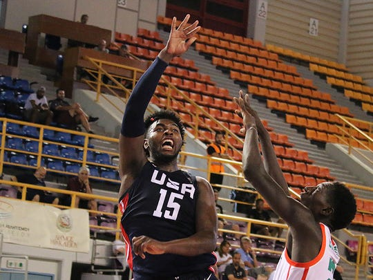 Purdue's Trevion Williams in action for the U19 World Cup Team