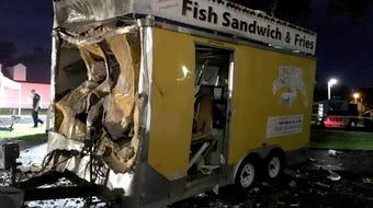A refrigerator truck exploded early Wednesday morning at the Fairfield County Fairgrounds. No one injured, but several structures were damaged.
