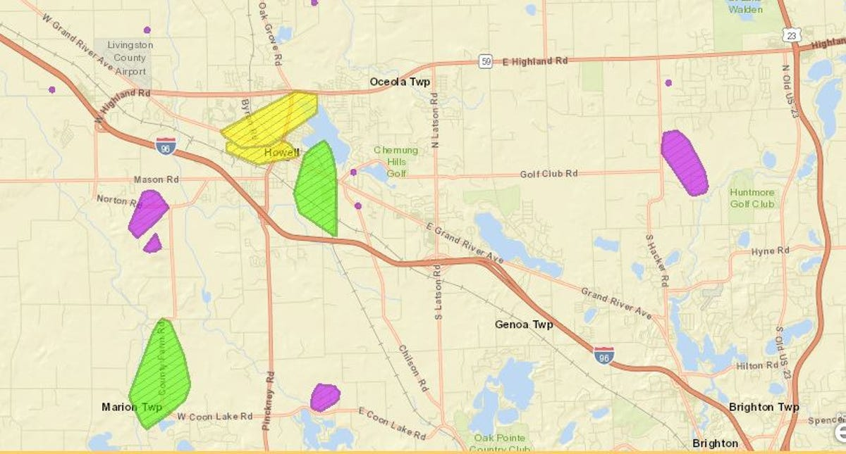 Heavy rain knocks out power for thousands in Livingston County