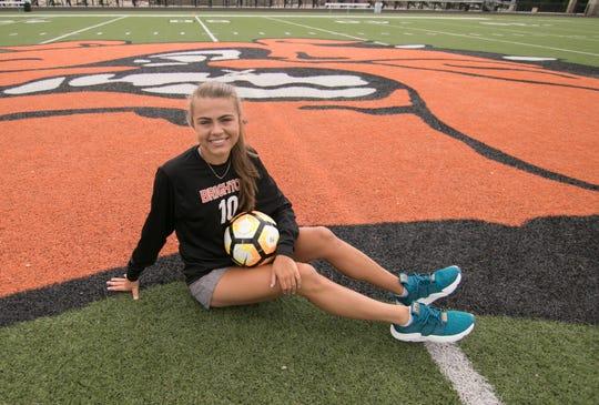 Brighton junior Mia Hansen made second-team all-state in soccer.