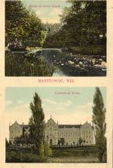 """Scene at Silver Creek"" (top) and ""Convent al Verno"" (bottom), undated."