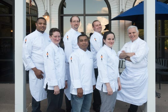 Chef Jose Gutierrez, far right, and his team at River Oaks restaurant in East Memphis.