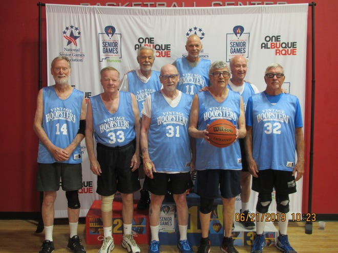 The Vintage Hoopsters won the bronze medal in three-on-three basketball at the National Senior Games last month in Albuquerque, New Mexico. The team included players from five states (Florida, Iowa, New Mexico, Texas and Washington). Collier County residents Warren Chichester (No. 11) and Don Harmon (32) were two of the three Florida players on the team.