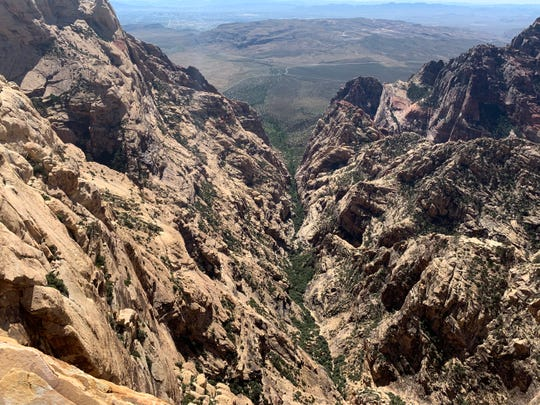 This photo of the beautiful and rugged terrain of the Red Rock Canyon near Las Vegas was found on Jeff Kalista's phone. He died on the trail, likely the same day.
