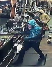 Authorities are searching for persons of interest in a July 1 burglary at a Montgomery gun store.