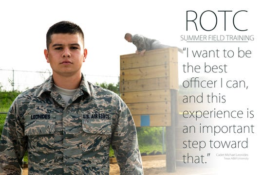 Cadet Michael Leonides of Texas A&M University
